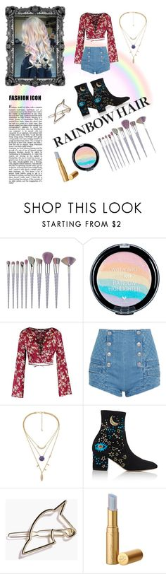 """""""Pastel Rainbow Hair"""" by adventure-pass ❤ liked on Polyvore featuring beauty, Pierre Balmain and Valentino"""