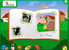 Interactive book and games for farm animals unit