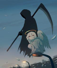 Anime o idk Sad Anime, Anime Kawaii, Otaku Anime, Dark Art Illustrations, Illustration Art, Fille Blonde Anime, Manga Art, Anime Art, Sun Projects