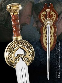 Herugrim was the sword of King Théoden of Rohan, hidden from him for many years by his traitorous councilor Gríma Wormtongue.After being cured by Gandalf, Théoden recovered the sword, and rode with it to the Battle of the Hornburg and the Battle of Pelennor Fields.