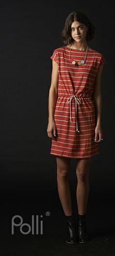 Polli new Merino tunic woven stripe koi