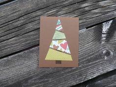 Items similar to Christmas Card cards// Christmas Tree Greeting // Holiday Blank Card on Etsy Christmas Card Crafts, Homemade Christmas Cards, Christmas Cards To Make, Christmas Makes, Homemade Cards, Handmade Christmas, Christmas Decorations, Christmas Tree, Christmas Projects