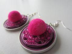superbes boucles d'oreilles rose en capsule par MARIONETCMZ sur Etsy, €7.00