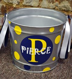 GALVANIZED 10 Quart Bucket - Easter Basket Pail - Halloween Candy Bucket. $24.00, via Etsy.