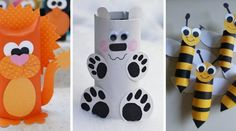 Cardboard tubes are not only recyclable materials, but also a source of creativity. The next little DIY projects are all about transforming cardboard Toilet Paper Roll Diy, Diy Paper, Paper Crafts, Bear Crafts, Animal Crafts, Zebra Craft, Diy For Kids, Crafts For Kids, Diy Pour Enfants