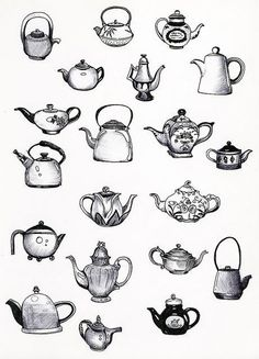 Tea pots.