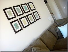 Scrapbook paper into a gallery wall
