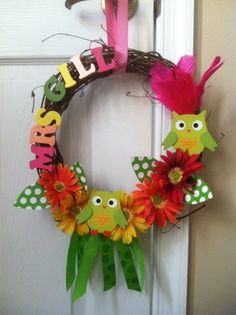 owl classroom decorations | ... Is Sweet....In Kindergarten!: Summer Bucket List: Classroom Wreath