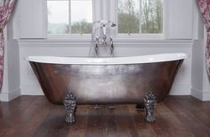 Schooner Cast Iron Bath with Hand Polished Exterior & Feet : Classic style bathroom by Hurlingham Baths