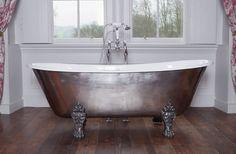 Schooner Cast Iron Bath with Hand Polished Exterior & Feet: classic Bathroom by Hurlingham Baths Classic Style Bathrooms, Classic Bathroom, Folding Bed Frame, Small Bathroom Renovations, Bathroom Ideas, Cast Iron Bath, Copper Bath, Roll Top Bath, Iron Decor