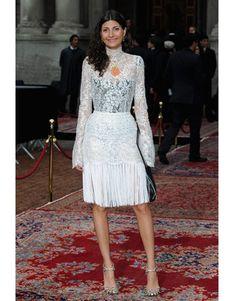 look branco   Giovanna Battaglia em look de renda branco