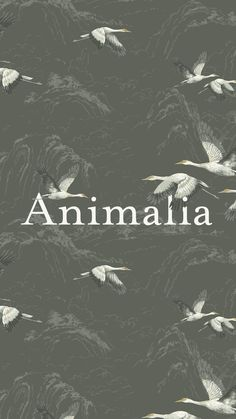 Animalia is a graceful design featuring cranes in flight. Adding a contemporary yet classic feel to any home, this timeless design features across wallpaper, curtain fabric, bedding and cushions.