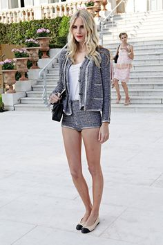 Poppy Delevingne in Chanel - At Chanel Collection Croisiere Show 2011-2012 in Cap d'Antibes, France.  (May 2011)