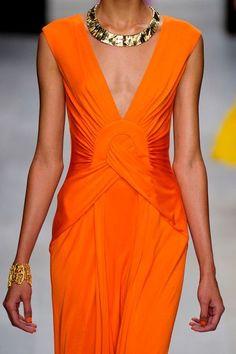 Issa at London Fashion Week Spring 2013 neon orange red dress London Fashion Weeks, Orange Outfits, Orange Dress, Orange Clothes, Mode Orange, Orange Orange, Orange Color, Fashion Details, Fashion Tips