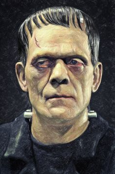 Zapista Frankenstein Painting Fine Art Print Classic Horror Movie Poster Home Wall Decor Unframed x Cool Monsters, Famous Monsters, Classic Monsters, Arte Horror, Horror Art, Dark Souls Art, Dark Art, Frankenstein Art, Horror Movie Posters