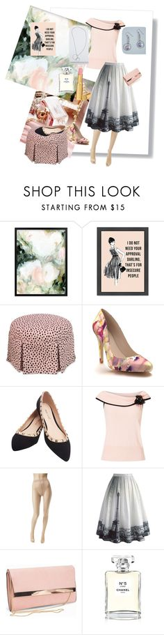 """""""Blush Pink"""" by judyrstinson ❤ liked on Polyvore featuring Shoes of Prey, Wet Seal, Jacques Vert, Wolford, Chicwish, New Look, Chanel and Too Faced Cosmetics"""