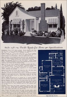 Design No. 258  from Pacific's Book of Homes — Pacific Ready Built Homes
