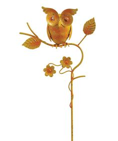 Yellow Springtime Owl Mini Garden Stake #zulilyfinds