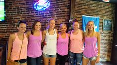 Kacee's bachelorette crew wore these cute pastel tanks for their Music City Pub Crawl http://www.musiccitypubcrawl.com