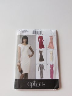Vogue Options Women's Dress Pattern V8685 - Uncut by NeedleandFoot on Etsy