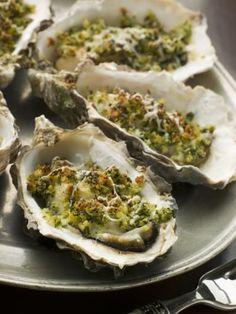 Huîtres gratinées au beurre d'escargot