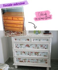 4 ideias para reformar móveis antigos Cute Furniture, Girls Bedroom Furniture, Refurbished Furniture, Recycled Furniture, Shabby Chic Furniture, Furniture Makeover, Painted Furniture, Painted Drawers, Cute Home Decor