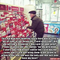 I'm crying right now! Faith in humanity restored Sweet Stories, Cute Stories, Cute Valentines Day Cards, Human Kindness, Touching Stories, Gives Me Hope, Faith In Humanity Restored, Dc Memes, Karen