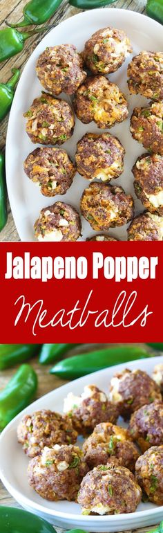 Popper Meatballs All the flavors of jalapeno poppers wrapped up into a tasty meatball with a surprise cheese-filled center.All the flavors of jalapeno poppers wrapped up into a tasty meatball with a surprise cheese-filled center. Meatball Recipes, Meat Recipes, Appetizer Recipes, Cooking Recipes, Appetizers, Barbecue Recipes, Cooking Tips, Pepperoni Recipes, Recipies