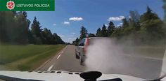 Totally Savage Driver Uses Smoke Screen and Throws Spikes at the Police During Car Chase