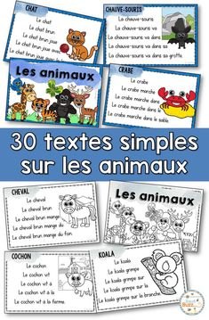 Cards with repetitive phrases to work reading fluency. Repetitive sentences to Work is fluency in French reading. Ideal for french immersion gold early primary french learners. French Lessons, Spanish Lessons, Learning Spanish, Learning Italian, French Flashcards, French Worksheets, Teaching Time, Teaching Kindergarten, French Teacher