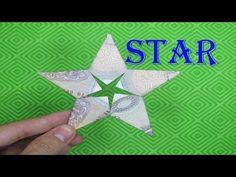 ORIGAMI $ - hướng dẫn gấp ngôi sao bằng tiền giấy money paper star instructions - YouTube Origami Pokemon, Origami 3d, Dollar Origami, Money Origami, Origami Stars, Origami Easy, Origami Youtube, Ninja Star, Minion