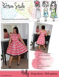 Holly Wrap Dress - PDF pattern - 1 Puddle Lane