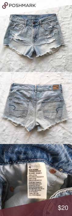 American Eagle High Waisted Shorts - size 4 - American Eagle Outfitters - great condition American Eagle Outfitters Shorts Jean Shorts