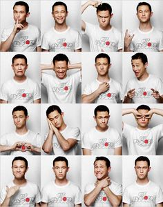 Joseph Gordon-Levitt reminds me of those pictures your family takes of all your facial expressions when you're a baby XD ugh! he is such a cutie Joseph Gordon Levitt, Pretty People, Beautiful People, Beautiful Things, Foto Face, Poses References, Shooting Photo, How To Pose, Facial Expressions