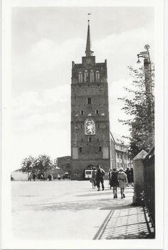 Rostock, 1953 - Kröpeliner Tor mit Straßenbahn