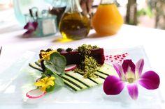Raw vegan edible art at Fresh.