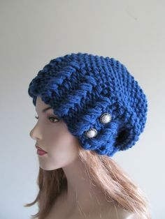 Oversized Slouchy Beanie Slouch Hats Baggy Beret Purl by Lacywork, $49.99