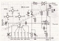 SW Receiver Preselector Circuit - ElectroSchematics.com Electronics Basics, Electronics Projects, Dc Circuit, Reverse Parking, Radio Channels, Hobby Kits, Ac Power, Ham Radio, Radios