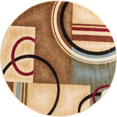 Barclay Ivory Arcs and Shapes Area Rug
