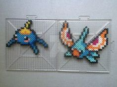 #283-#284 Surskit and Masquerain Perlers by TehMorrison
