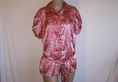 LANE BRYANT Shirt Top Blouse 14 16 Ruched Short Sleeves Button Front New #LaneBryant #ButtonDownShirt #Career