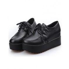 platform oxfords| $27.50  nu goth pastel goth punk harajuku creepers fachin oxfords platforms flatforms shoes under30 yoyomelody bought