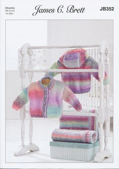 Jacket and Blanket in James C. Brett Baby Marble Chunky (JB352) – Deramores