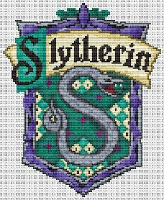 Hey, I found this really awesome Etsy listing at http://www.etsy.com/listing/166584418/slytherin-crest-cross-stitch-kit-harry