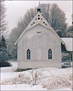 1867 New England Church  Photography  8 X 10 by MuzettasWaltz, $20.00