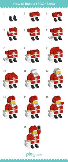 Costruire un Babbo Natale di LEGO - LEGO How-to Build: Snowman, Christmas Tree, Santa Claus