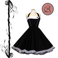 *Süßes Kleid der 50er*  Welches Kleidungsstück ist wohl typischer für die 50er Jahre Mode als das Petticoatkleid!  Eine stilbewusste Rockabella trägt ihren Rock oder ihr Kleid selbstverständlich...