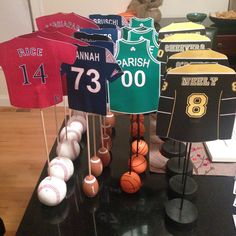 Boston Sports Themed Table Numbers for Wedding Red Sox, Patriots, Celtics, Bruins // Beth and Paul's wedding // baseball, football, basketball, hockey // wedding table numbers // how to incorporate sports into wedding