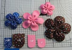 DIY Flower hairbows