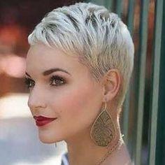Best Platinum Blonde Pixie Short Hair More Short Blonde Haircuts Latest Short Haircuts, Short Pixie Haircuts, Pixie Hairstyles, Short Hairstyles For Women, Cropped Hairstyles, Blonde Hairstyles, Latest Hairstyles, Platinum Blonde Pixie, Short Blonde Pixie